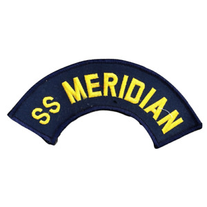 SS MERIDIAN Blue Embroidered Patch