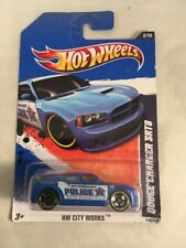 Hot Wheels Dodge Charger SRT8 HW City Works Blue Police r3toystore