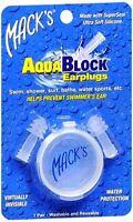 Mack's AquaBlock Earplugs 1 Pair (Pack of 4)
