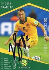 ✺Signed✺ 2014 2015 SOCCEROOS Card IVAN FRANJIC Australia World Cup A-League