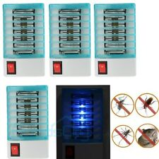 4 X 110V Electric Led Mosquito Fly Bug Insect Trap Zapper Killer Night Lamp Blue