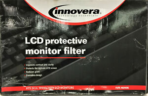 """Innovera Protective Antiglare LCD Monitor Filter Fits 24"""" Widescreen, IVR-46406"""