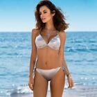 Swimwear Women Bikini Plus Size Sexy Shiny Bordered Bathing Suit Push Up Swimsui