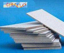 CARTONAGGIO LEGATORIA - 4 pezzi di cartone pesto 50x70 cm - grigio 2,5 mm