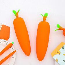 Carrot Silicone Carrot Vegetable Coin Pencil Pen Case Purse Bag Wallet Pouch