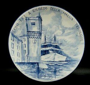 1995 CERAMICA di ALBISOLA - C.O.N.I. F.C.I. RICORDO DELLA MAGLIA TRICOLORE