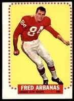 1964 Topps Kansas City Chiefs Lot of 8 Cards - Hunt, Arbanas, Holub, Budde ++++