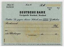 ~ cheque Deutsche Bank, zweigstelle Bruchsal, 19 -- ~ ~