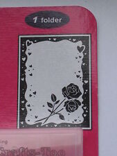 """Embossing Folders - """"Rose And Heart Frame """" Ctfd3039 For Scrapbooking And Cards"""