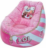 L.O.L. Surprise! Sorpresa L.O.L. Chill out-Silla Sofá Puff Hinchable, Rosa