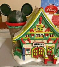 Disney Department 56 Mickey's Ski & Skate Merry Christmas Village Store 2010