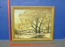 """1961 LARGE PAINTING BY ANNA MAE DUNN """"TWIN OAKS"""""""
