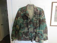 BDU Woodland Camo Jacket - Shirt Large Regular US Army Camouflage