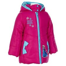 Disney Frozen Anna Elsa Girl Pink Winter Hooded Puffer Jacket Coat Parka 2T 24M