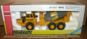 VOLVO A35 Concrete Cement Mixer Truck 1/50 Joal Toy 167 Die Cast Metal Vintage