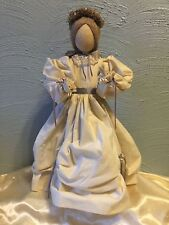 """Vintage Pine Baroness Doll 18"""" Christmas Artist E.L. Krause Made In U.S.A"""