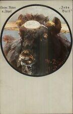 John Bull Heinr Kitter V. Zugel German Anti-England Propaganda? Postcard gfz