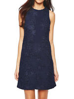 Warehouse Sz 10-16 Blue Navy Cut Out Floral Lace Dress Occasion Wedding Party