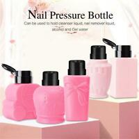 Clean Acetone  Empty Bottle Nail Polish Remover Pump Dispenser Container