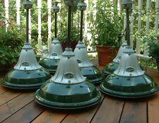 1935 BENJAMIN VAPOR SEAL Explosion Proof Porcelain VTG Industrial Green Light +
