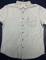 Levi's Red Tag Heather Light Blue Short Sleeve Casual Button Down Shirt Mens XL