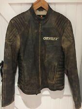 """Edición Limitada-chevirex-Cuero Biker Jacket-Tamaño Pequeño - 38"""" bolsillos"""