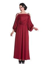 HELL BUNNY SHOREDITCH MAXI DRESS  Goth Burgundy Wedding Prom 20s  Size 10