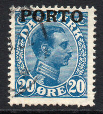 Denmark 20 Ore Postage Due Stamp c1921 Used (2326)