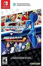 New Mega Man Legacy Collection 1 + 2 Nintendo Switch Free Shipping #$ Games 1-10