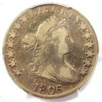 1806/5 Draped Bust Half Dollar 50C Coin O-103 Large Stars - PCGS - Fine Details!