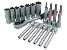 Neilsen Amortiguador Socket Conjunto de 18 Piezas Kit Suspensión de Trinquete de ir a través de