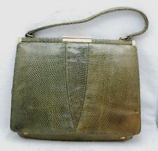 VINTAGE GREEN CROCODILE ALLIGATOR HANDBAG HONG KONG