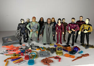 1993 Playmates Star Trek Action Figure Lot  of 11 with Accessories Cards VGC