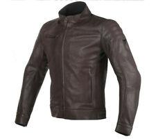 Moto leather jacket Dainese Bryan dark brown