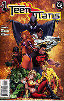 Teen Titans 1 Michael Turner Variant Geoff Johns Robin Raven Starfire HTF NM+