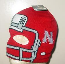 Nebraska Cornhuskers Adidas Youth Knit Helmet Facemask Beanie Hat Costume G02