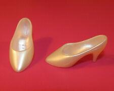 Vive Jackie Kennedy Franklin Mint Tan Matte Plastic Doll Shoes//Heels ONLY MINT