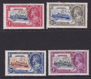 Antigua. SG 91s-94s, 1935 Silver jubilee, specimens. Mounted mint.