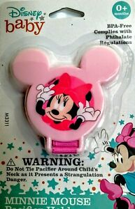 Disney Baby Minnie Mouse Pink Pacifier Holder BPA-Free 0+ Months NEW!