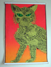 Vintage Brady Bunch 1967 Relic~Electric Cat Blacklight Poster~ Girls' Room