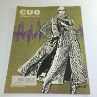 Cue Magazine: September 5 1970 - Fall Fashions/Theme Cover Kermit Oliver