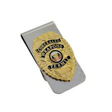 Concealed Weapons Carry Permit Money Clip CWP Mini Badge Chrome NEW CCL