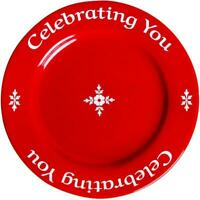 You are special today-Celebrating You Red Plate in Gift Box, Brand-new