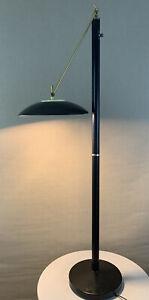 Vintage Mid Century Modern Circa 1980's Kovacs Sonneman era UFO Floor Lamp