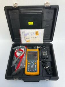 FLUKE 123 INDUSTRIAL SCOPEMETER 20 MHz WITH ACCESSORIES AND CUSTODIA #1