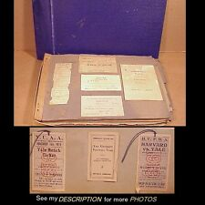 1919-1921 Yale University Student Scrapbook Sports Tickets, Photos, Memorabilla
