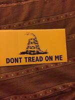 DON'T TREAD ON ME BUMPER STICKER GADSDEN FLAG STICKER