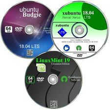 Linux Paket 64 bit, ubuntu, LinuxMint, xubuntu       ✔ Neu   ✔ 3 DVD`s