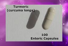 Turmeric Tumeric(Curcuma longa) 100 Enteric Capsules Delayed Release Natural