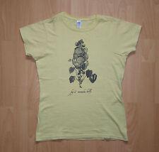 Holly miranda t-shirt-amarillo-Flor - talla S-como nuevo!!!
